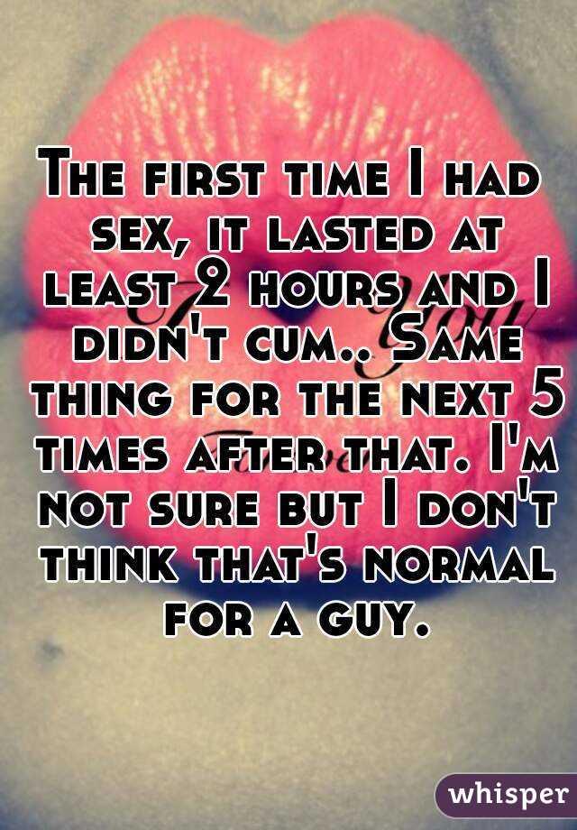 First time sex didnt cum