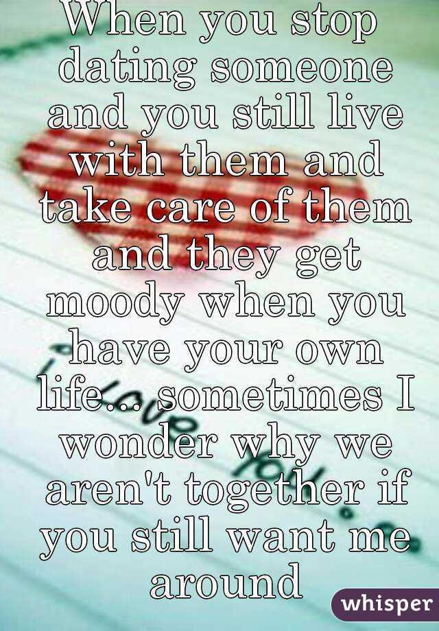 dating someone moody
