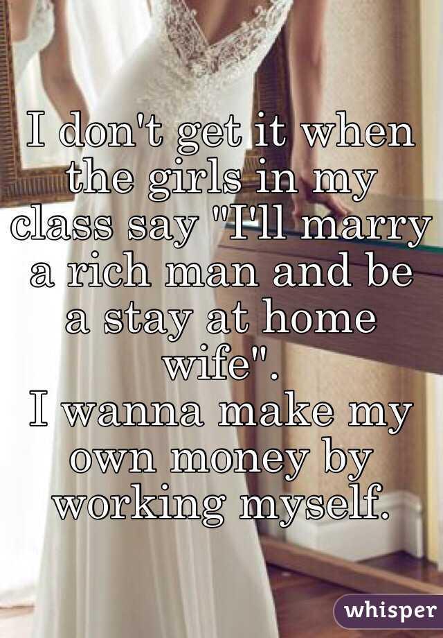 How do i marry a rich man