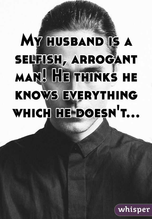 My husband is cheap and selfish