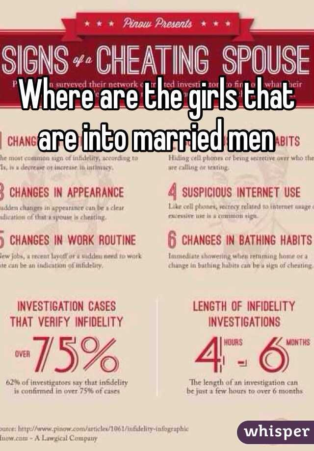Where are the girls that are into married men