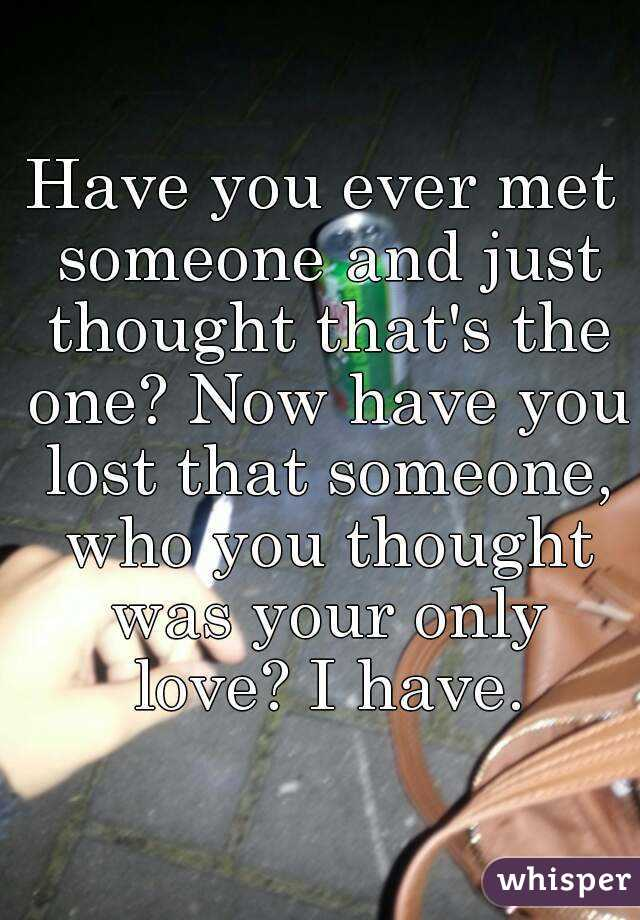 who you met
