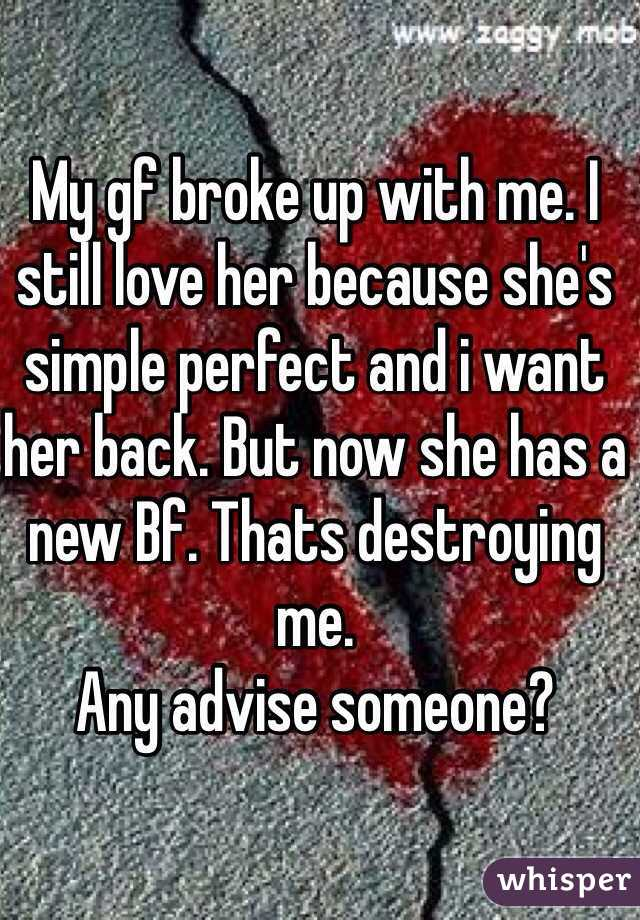 i broke up with her