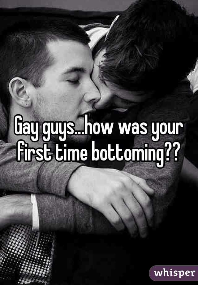 Gay black first time