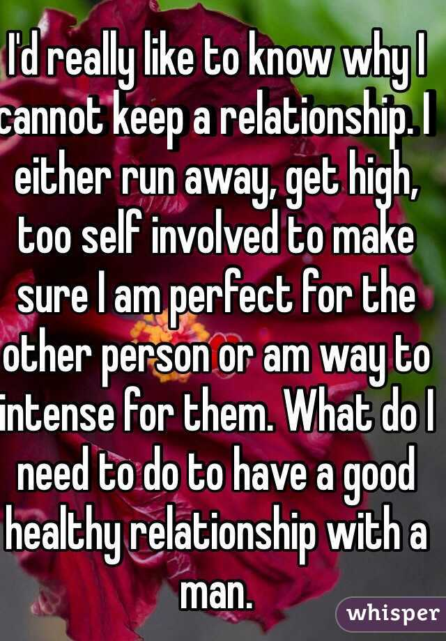 why men run away from relationships