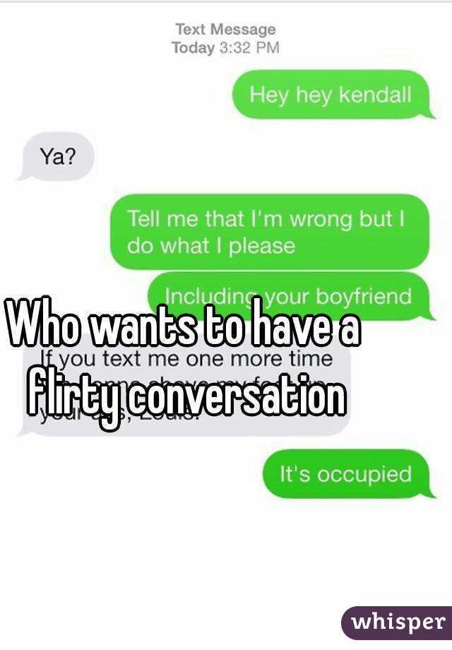 Flirty conversation