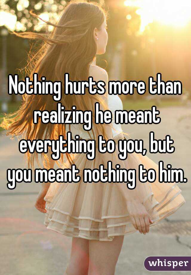 it meant nothing it meant everything
