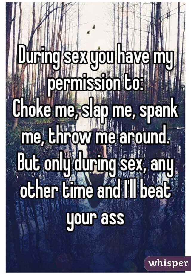 Beat my ass during sex