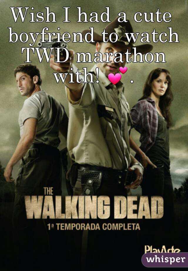 Wish I had a cute boyfriend to watch TWD marathon with! 💕.