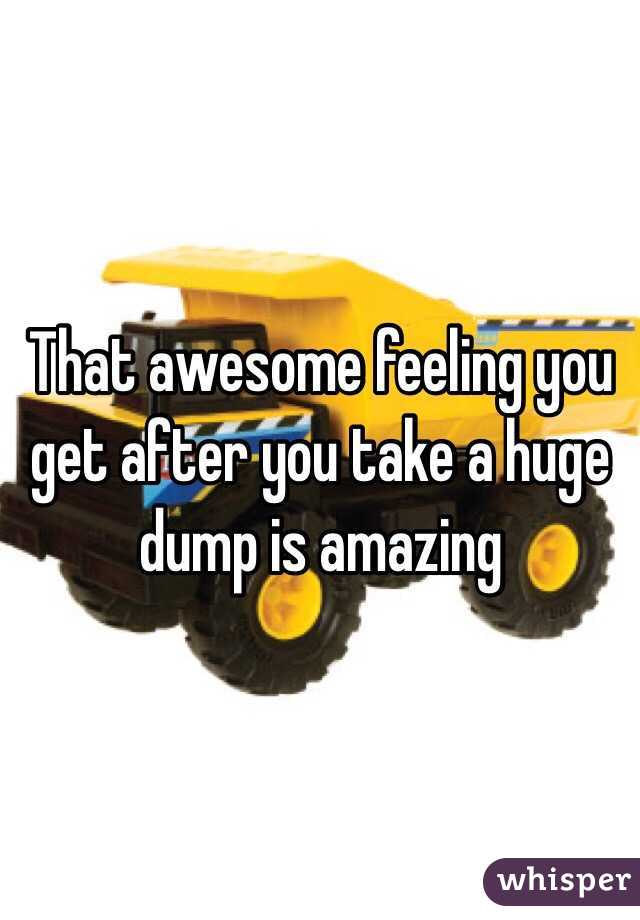 That awesome feeling you get after you take a huge dump is amazing
