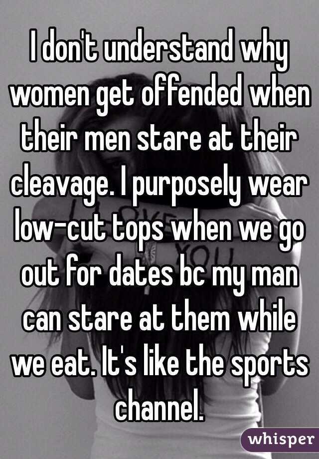 why men like cleavage