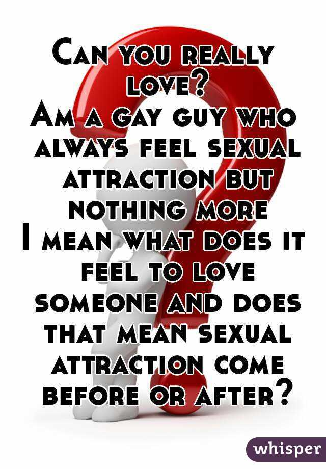What does sexual attraction mean