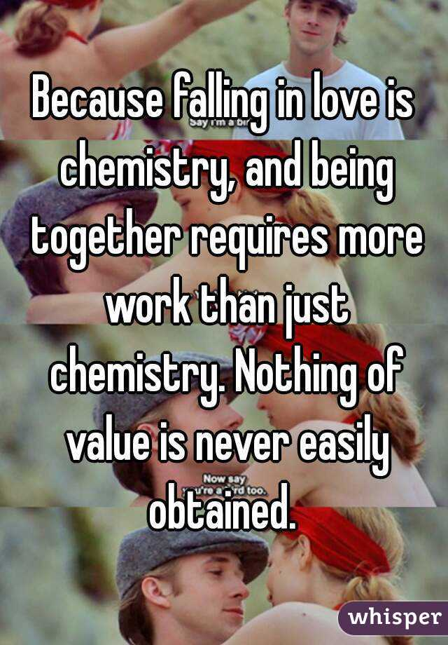 how does love work chemically