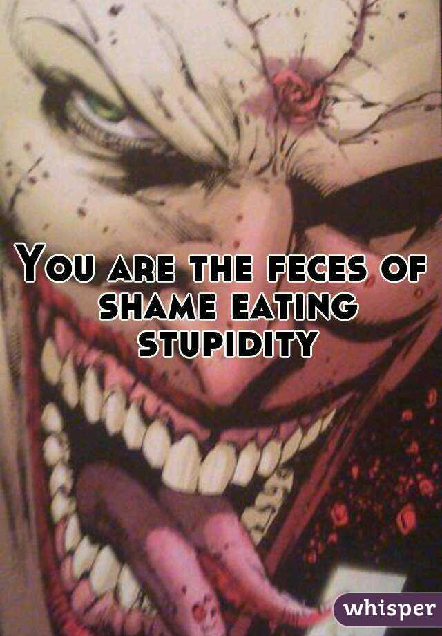 You are the feces of shame eating stupidity