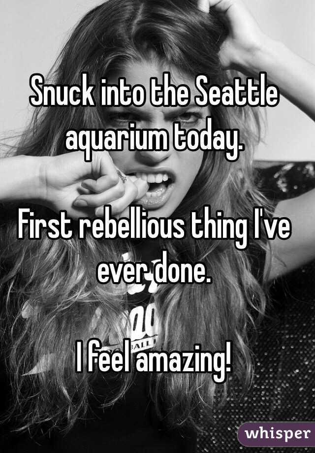 Snuck into the Seattle aquarium today.  First rebellious thing I've ever done.  I feel amazing!