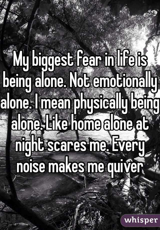 Phobia of being alone at night