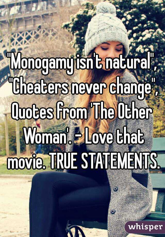 Monogamy isn\'t natural\