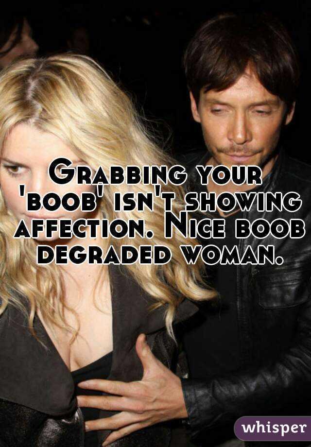 of affection grabbing sign Boob