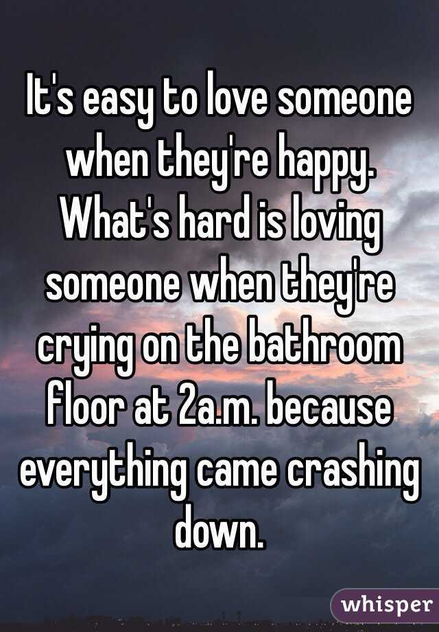 loving someone for who they are