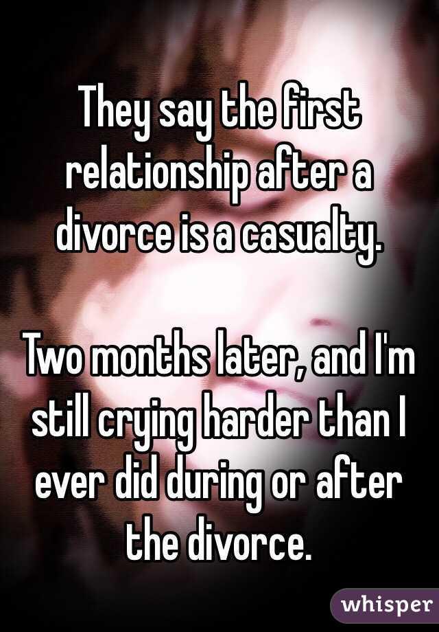 1st relationship after divorce