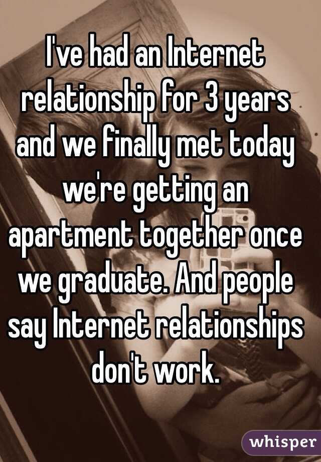 Can internet relationships work