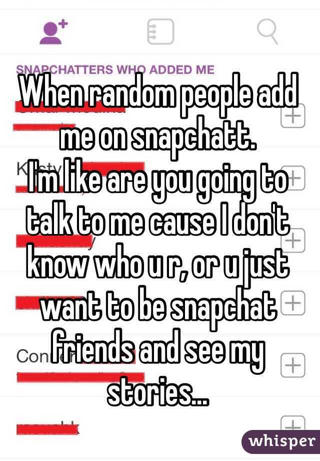How to add random people on snapchat
