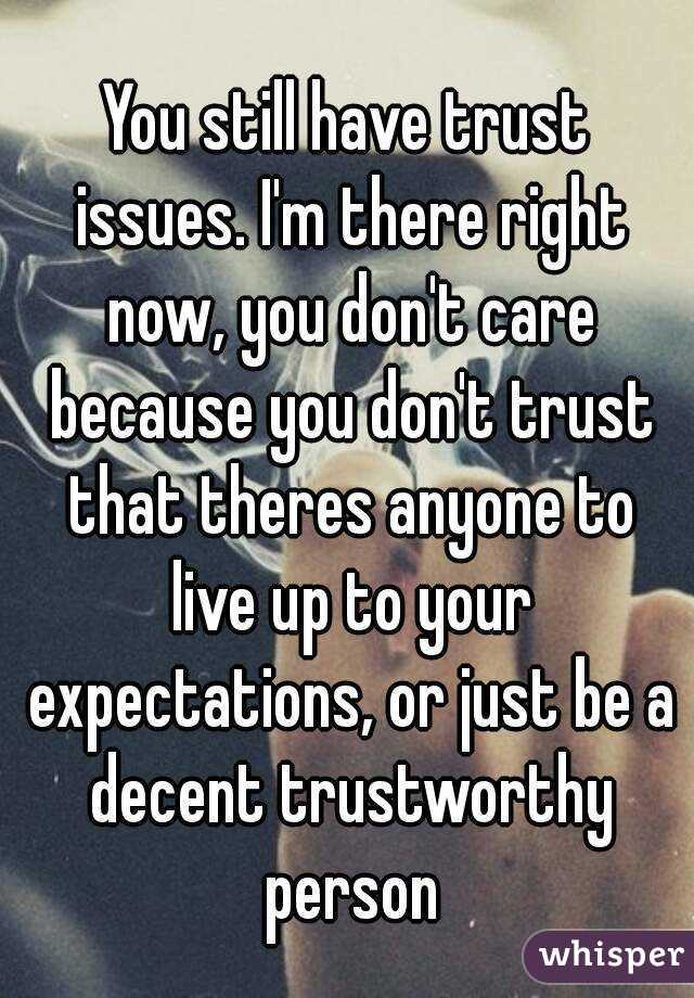how to help trust issues
