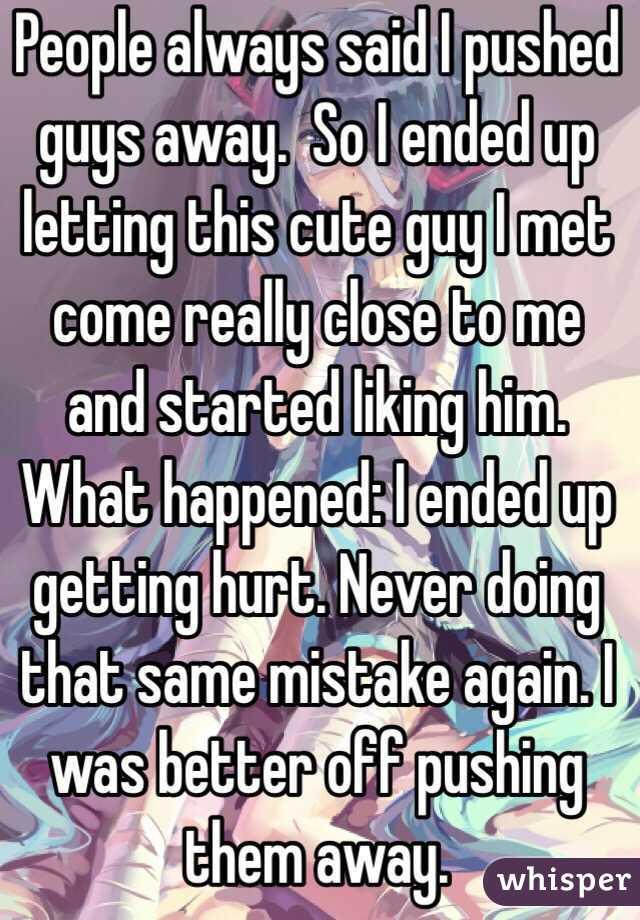 girl pushing guy away