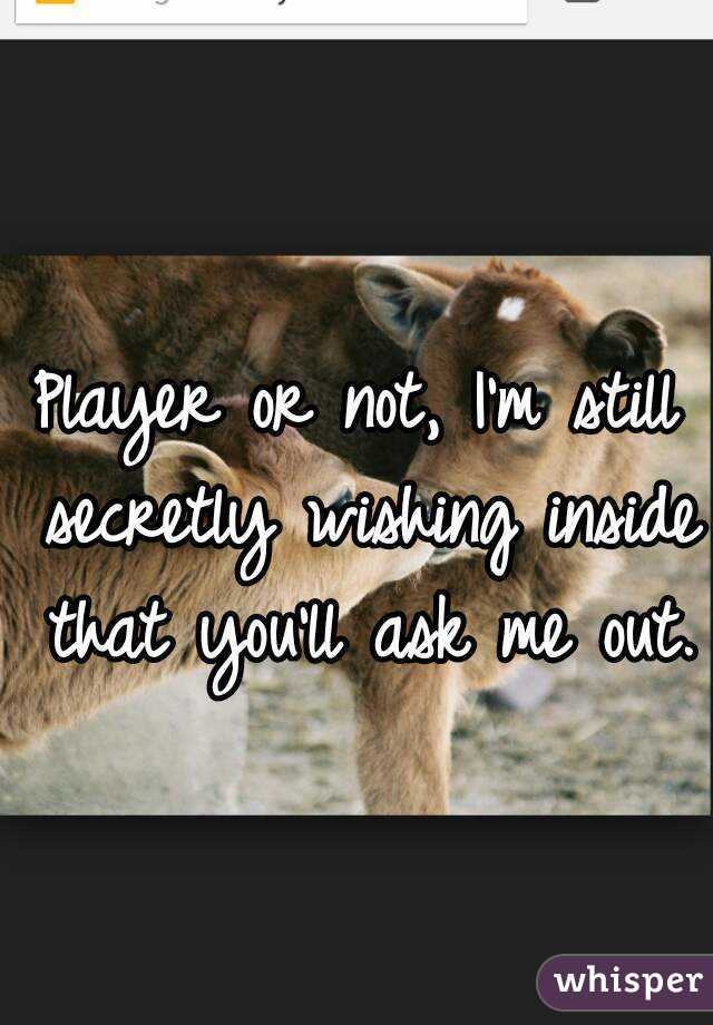 Player or not, I'm still secretly wishing inside that you'll ask me out.