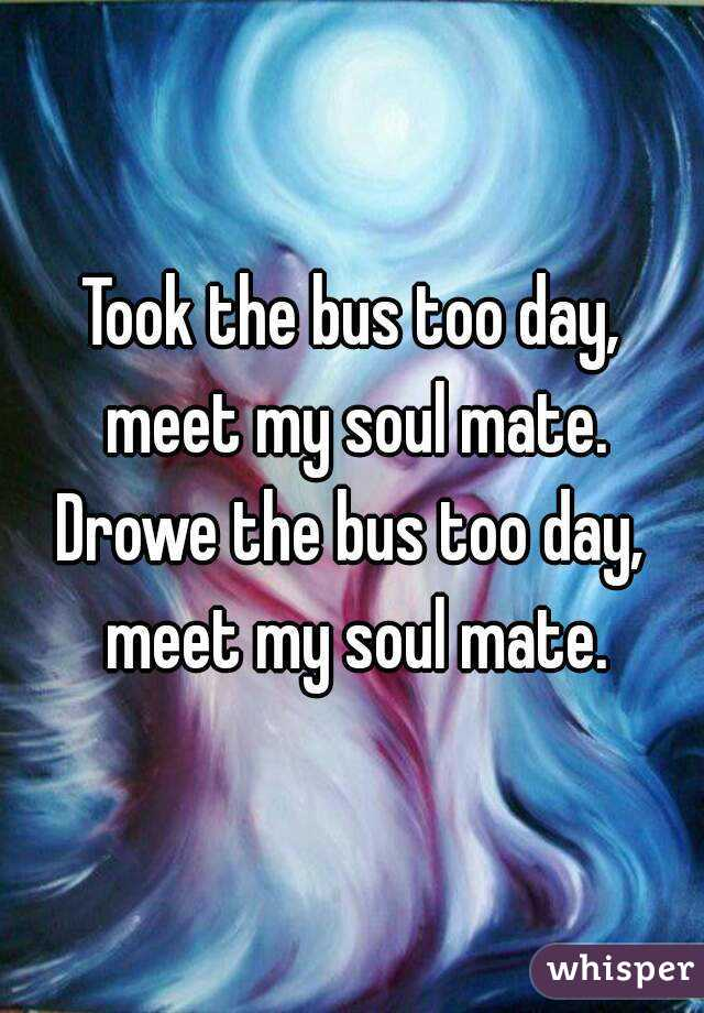 Took the bus too day, meet my soul mate. Drowe the bus too day, meet my soul mate.