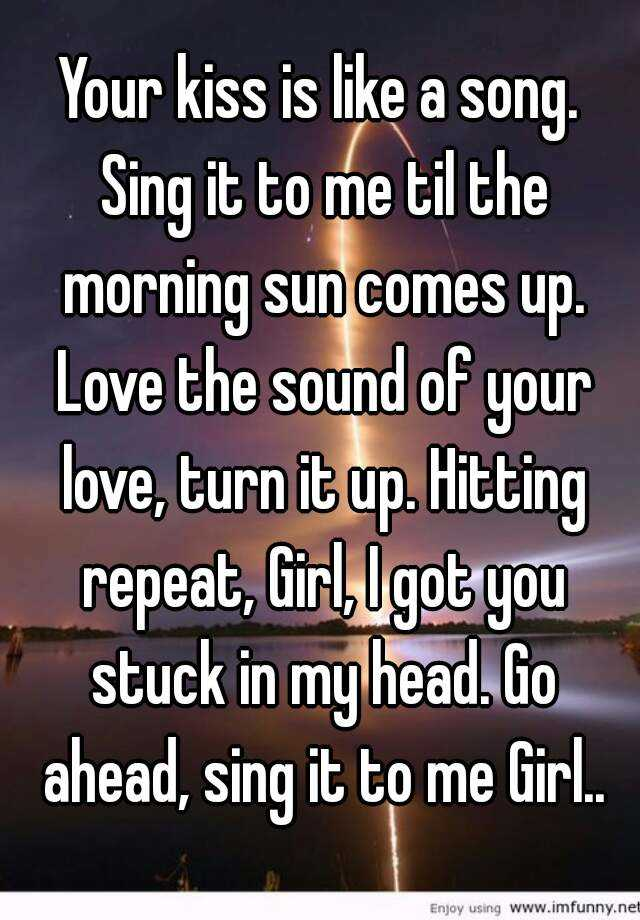 Song to sing to your girlfriend