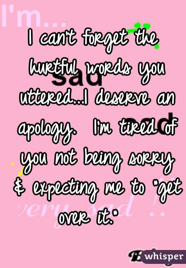 How to apologize for hurtful words