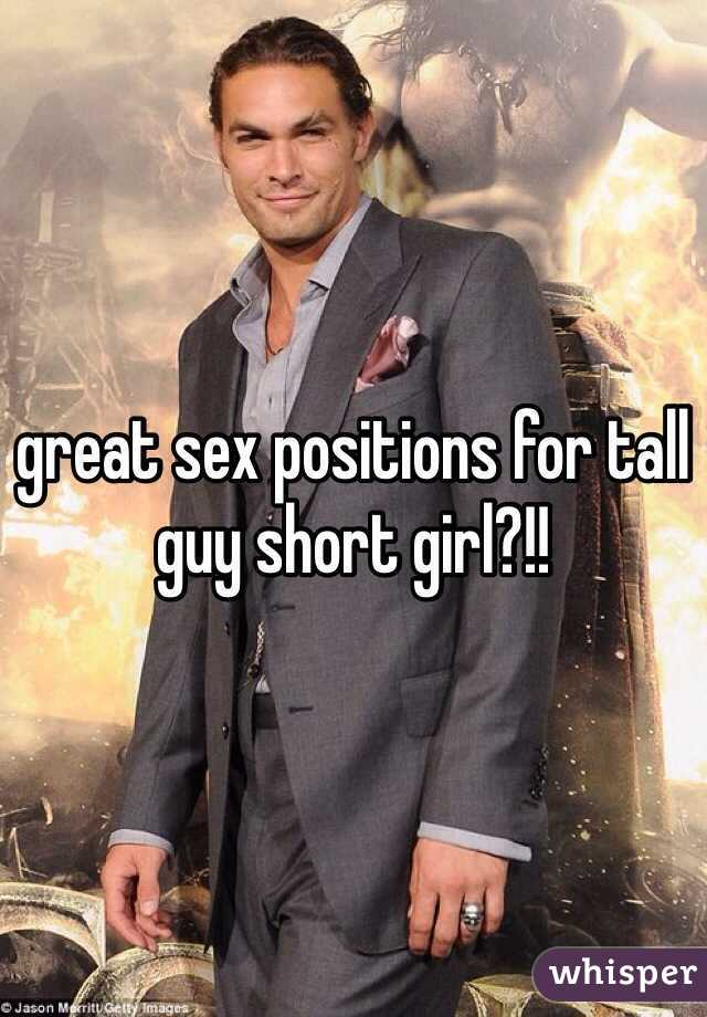 Sex positions for tall men and short women