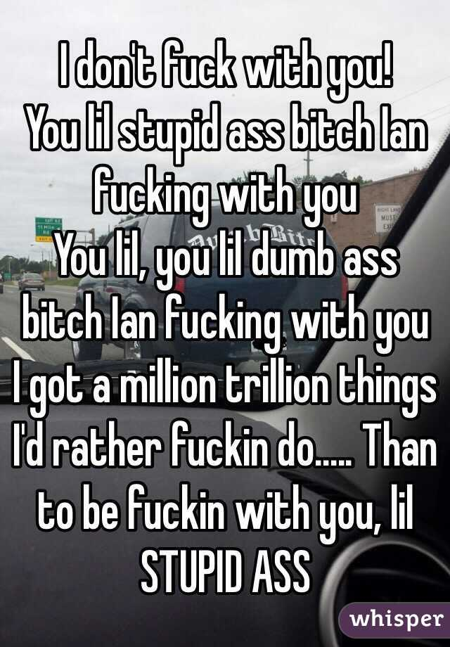I d rather fuck with you