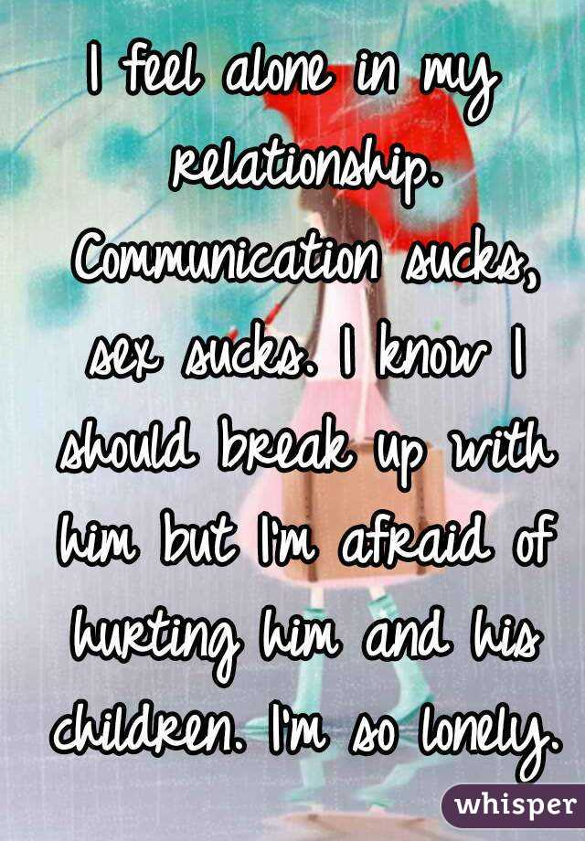 I feel lonely in my relationship