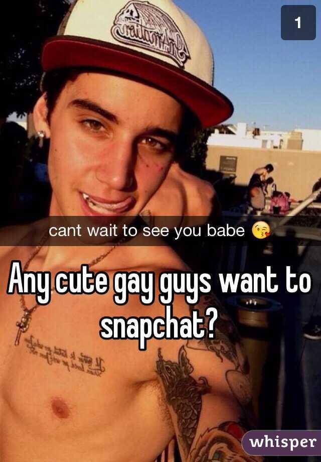 Gay guys snapchat