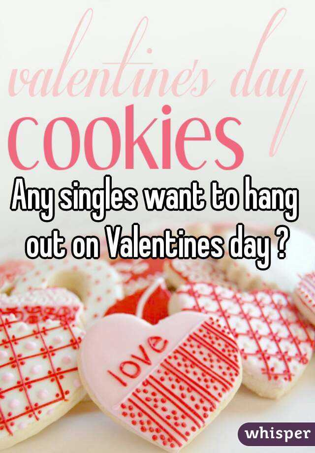 Any singles want to hang out on Valentines day ?