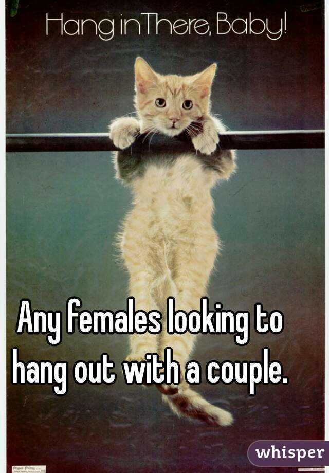 Any females looking to hang out with a couple.