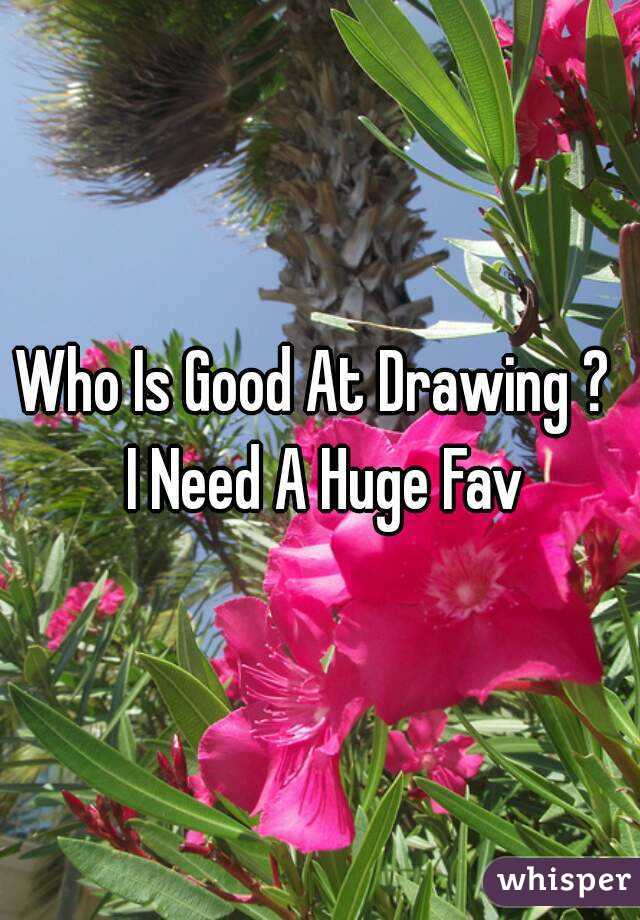 Who Is Good At Drawing ?  I Need A Huge Fav