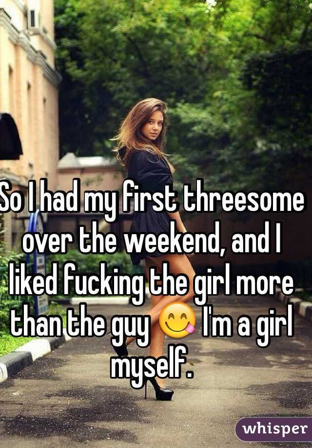 So I had my first threesome over the weekend, and I liked fucking the girl more than the guy 😋 I'm a girl myself.