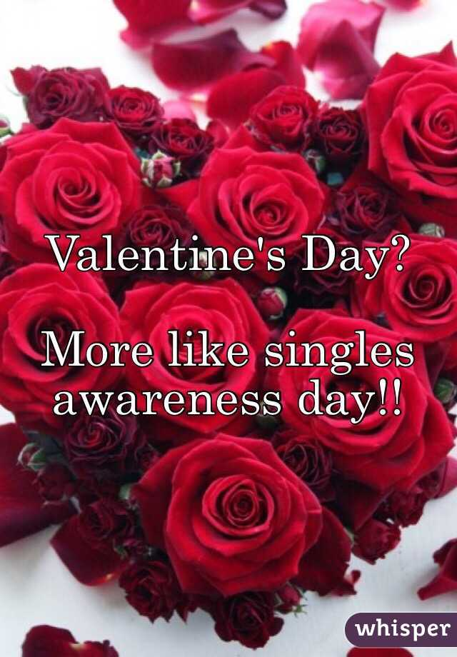 Valentine's Day?  More like singles awareness day!!