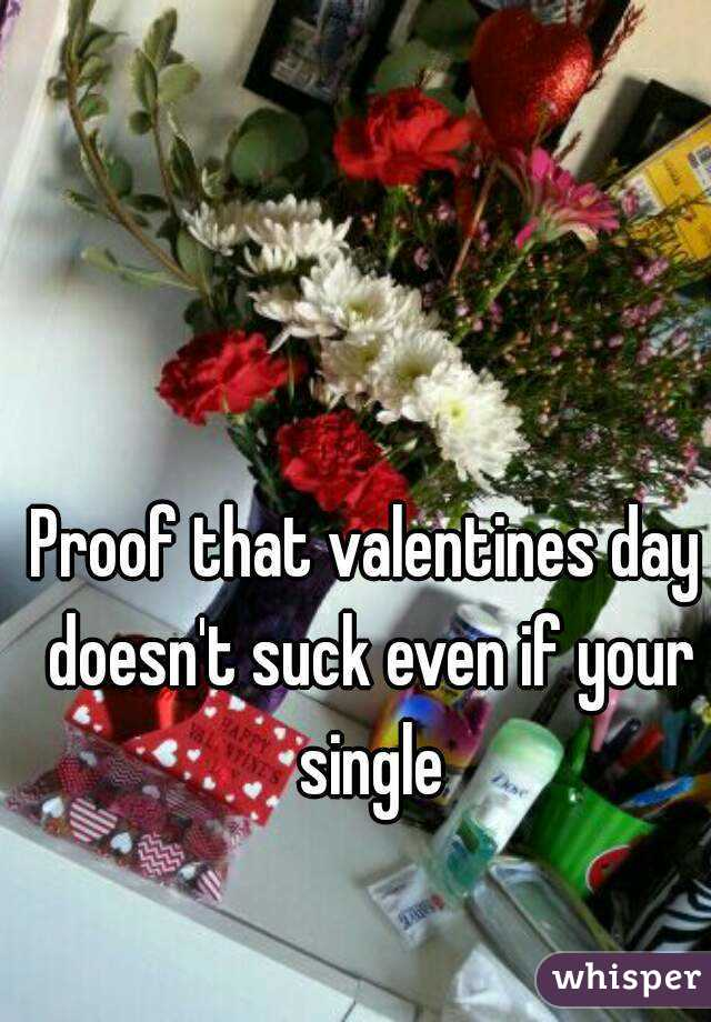 Proof that valentines day doesn't suck even if your single