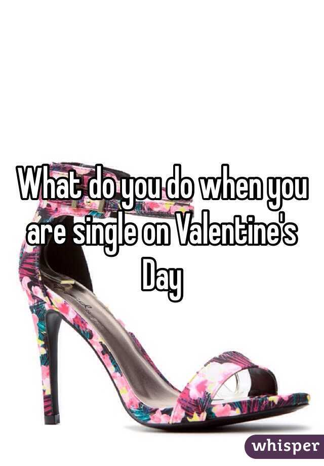What do you do when you are single on Valentine's Day
