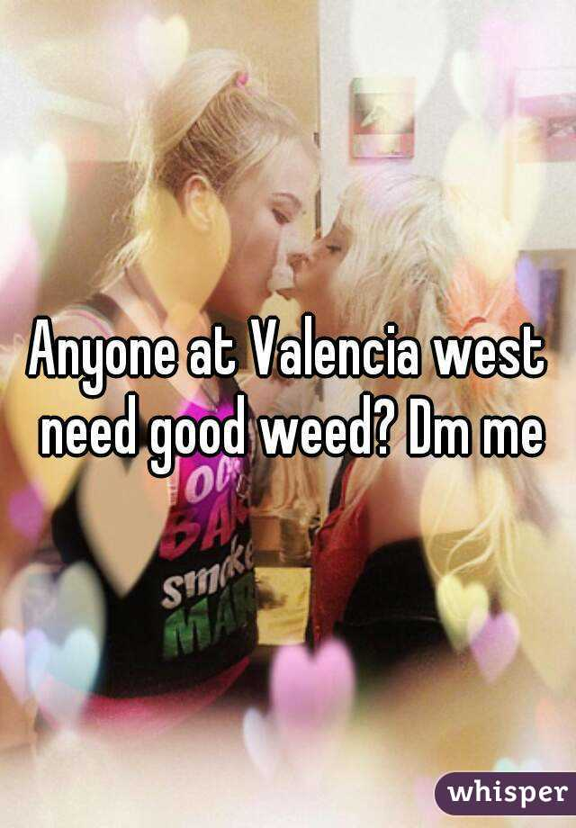 Anyone at Valencia west need good weed? Dm me