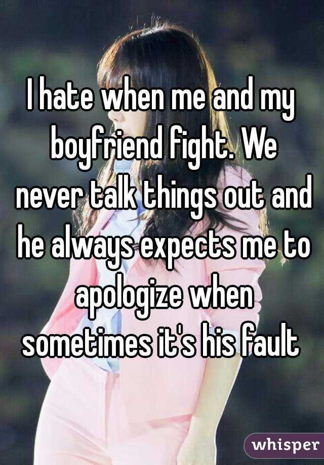 why are my boyfriend and i always fighting