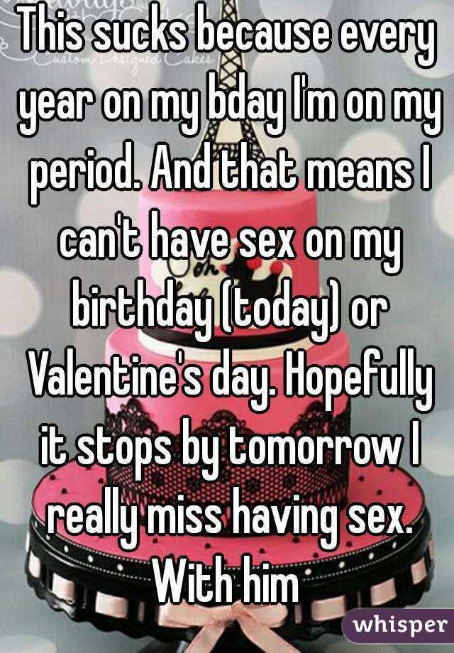 Секс завтра днем рождения