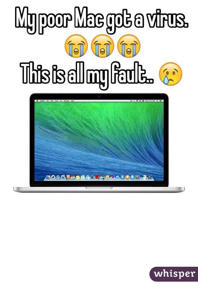 My poor Mac got a virus. 😭😭😭  This is all my fault.. 😢