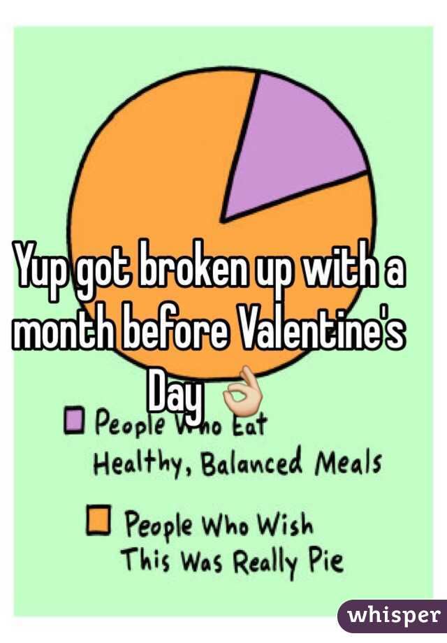 Yup got broken up with a month before Valentine's Day 👌