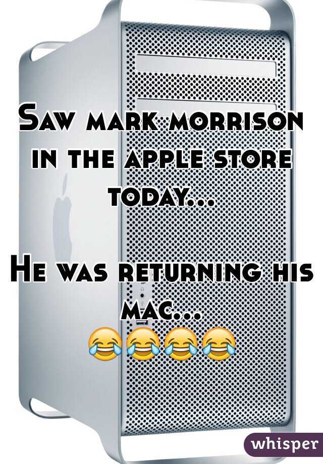 Saw mark morrison in the apple store today...  He was returning his mac... 😂😂😂😂