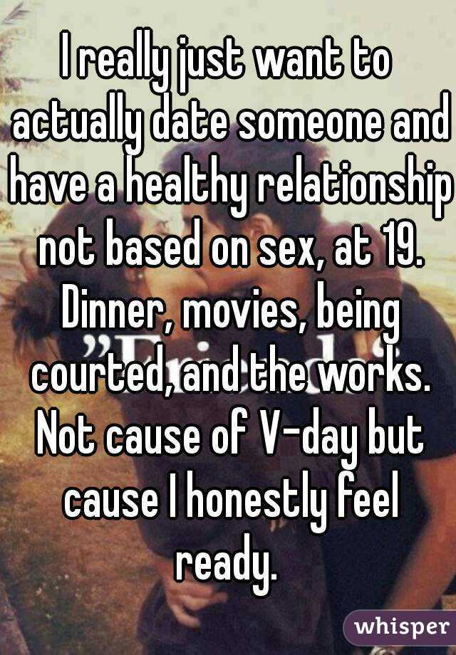 Dinner and dates dont lead to sex